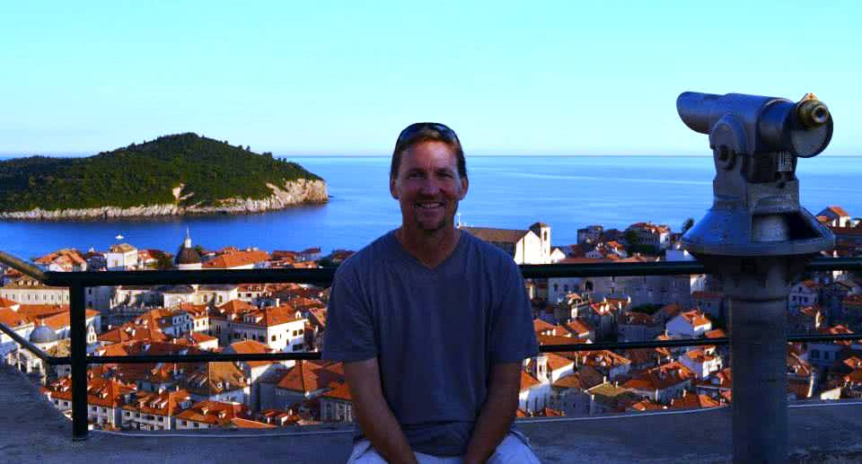Patrick Tray in Dubrovnik, Croatia, July 2013