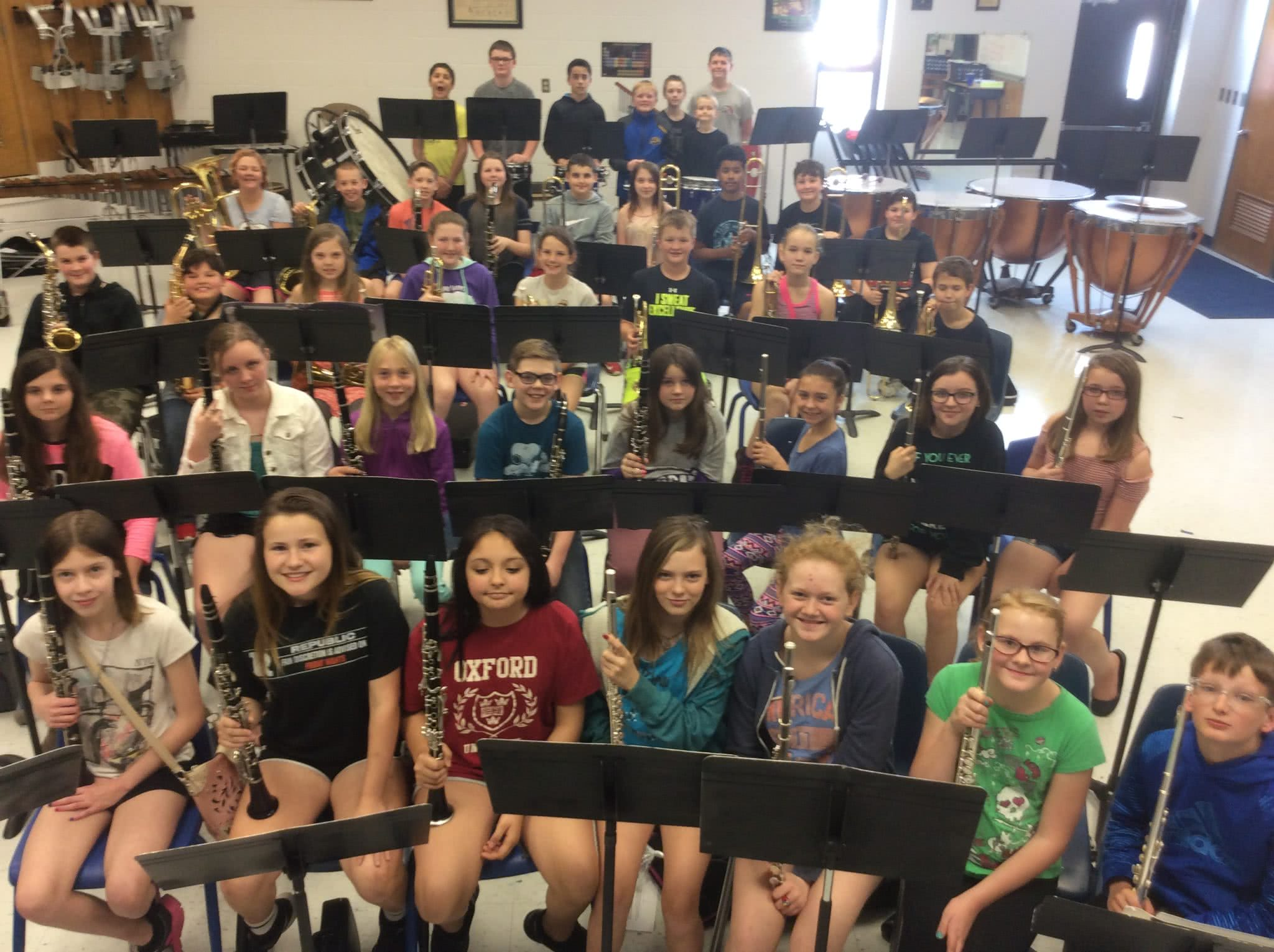 Shannon Waldo's 5th and 6th grade band