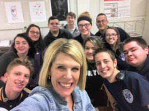Nichole Tews with students